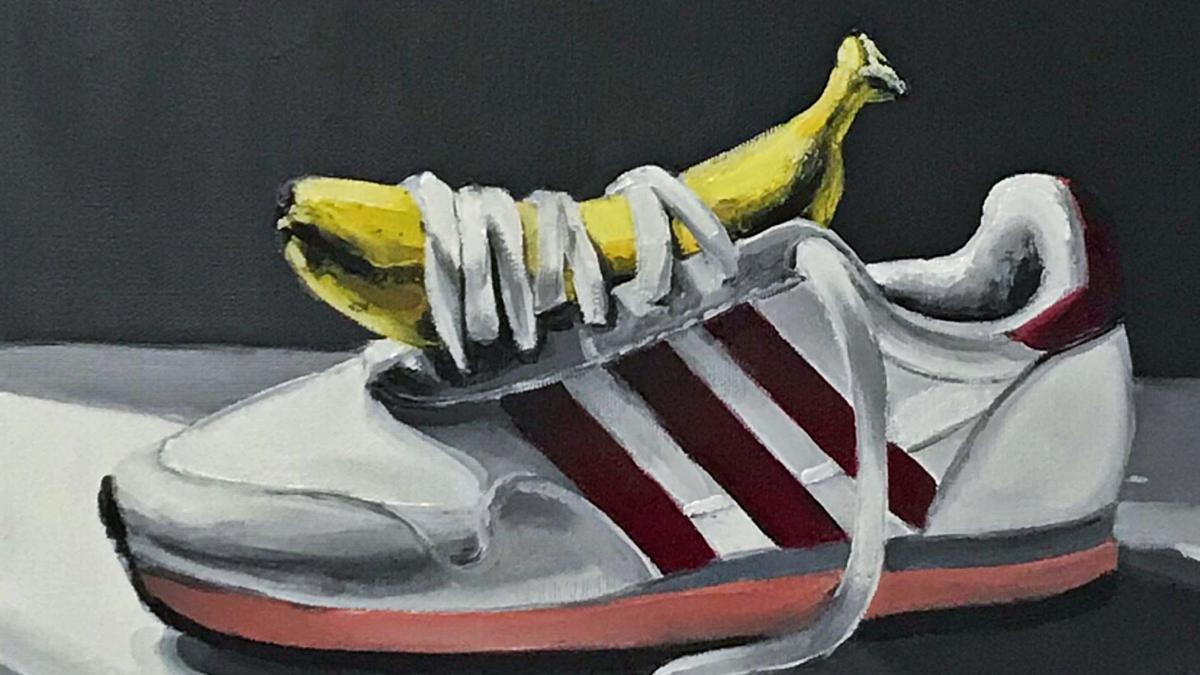'Potasio', obra de Cristóbal Tabares, un joven artista de Arafo que forma parte de la galería del Plátano Rock 2020.