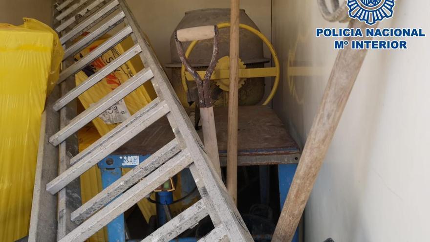 Detenido con material de obra valorado en 1.300 euros