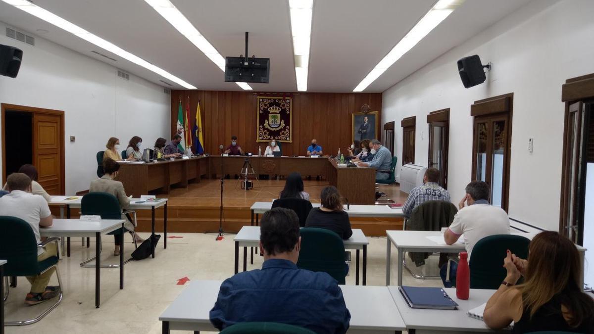 Un momento del Pleno de Palma del Río, que ha recuperado la presencialidad.