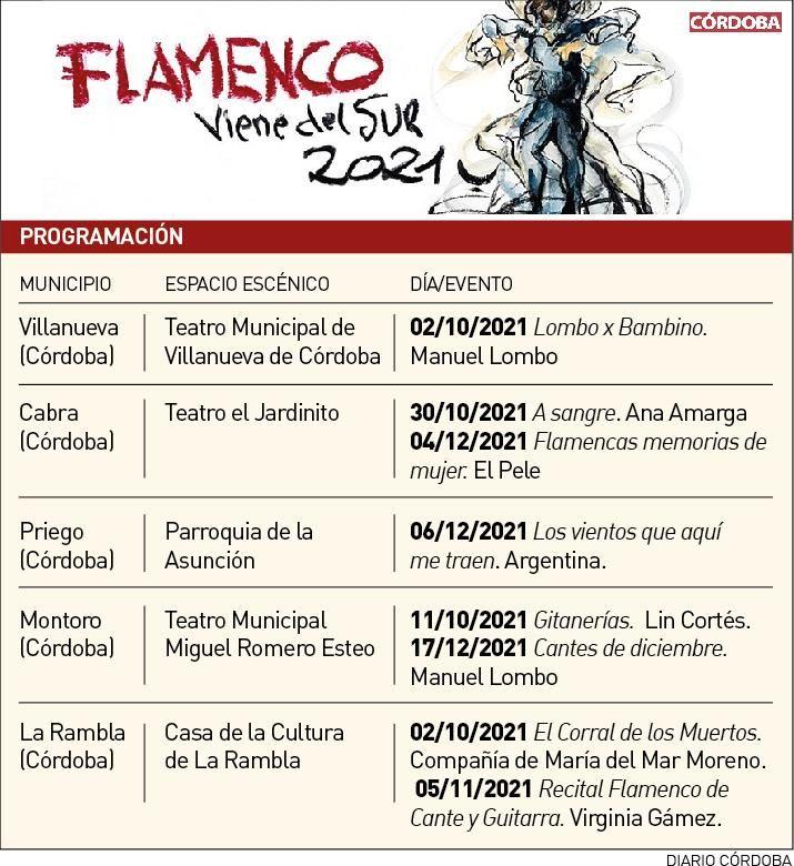 Programación de Flamenco Viene del Sur 2021.
