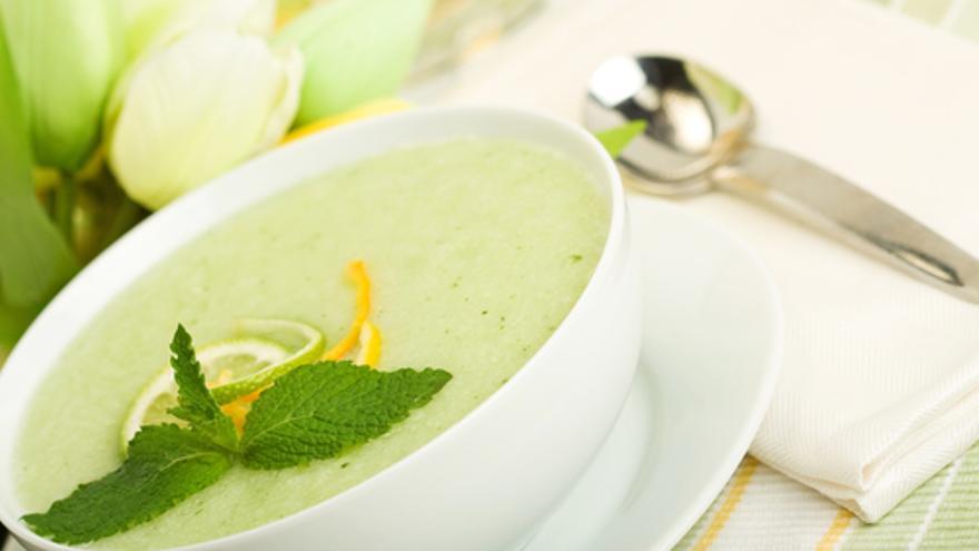 Kalte Melonensuppe mit Ingwer