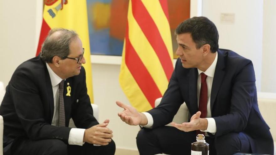 Quim Torra y Pedro Sánchez, en una reunión anterior.