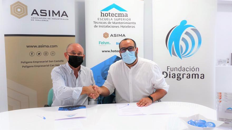 ASIMA firma un convenio con Diagrama para ofrecer formación a personas en dificultad social