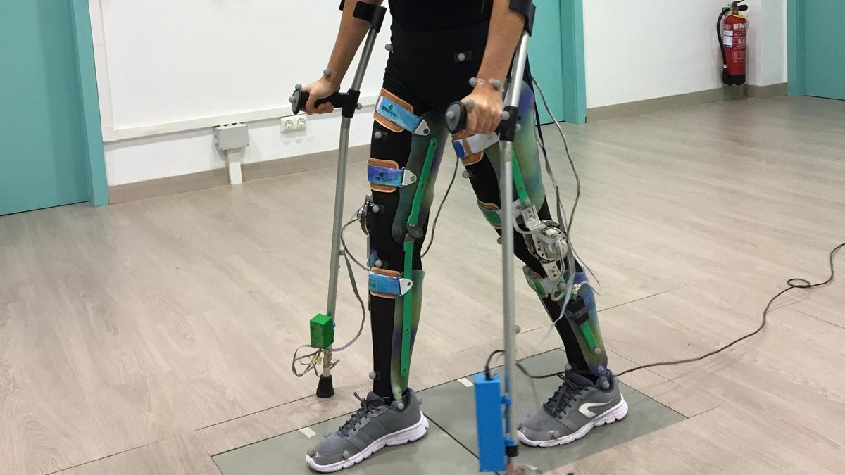 Una imagen del ABLE Exoskeleton para personas con lesión medular