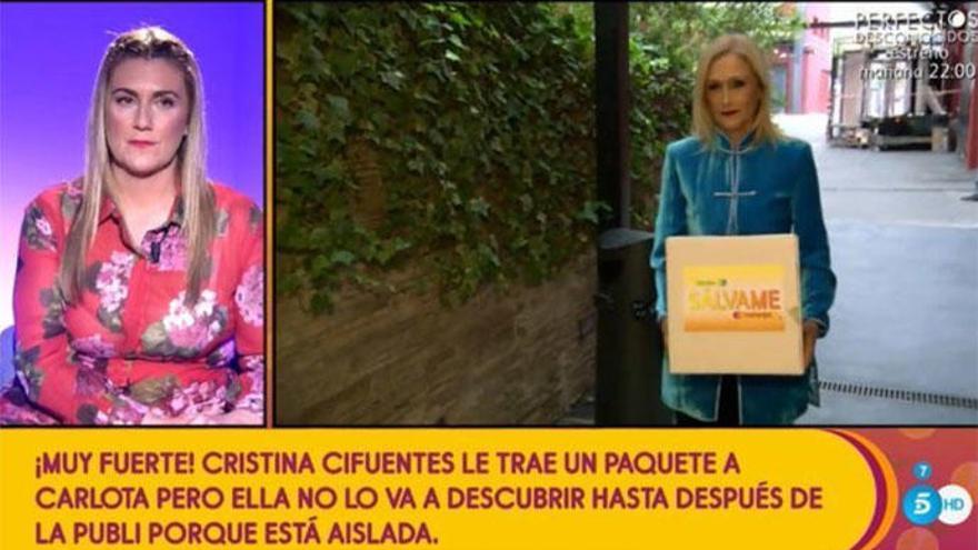 Cristina Cifuentes visita por sorpresa el plató de 'Sálvame Diario'