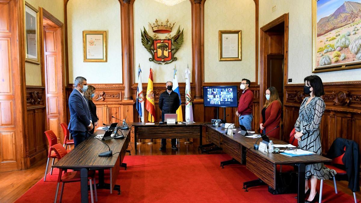 Un Pleno reciente en el Ayuntamiento de La Orotava