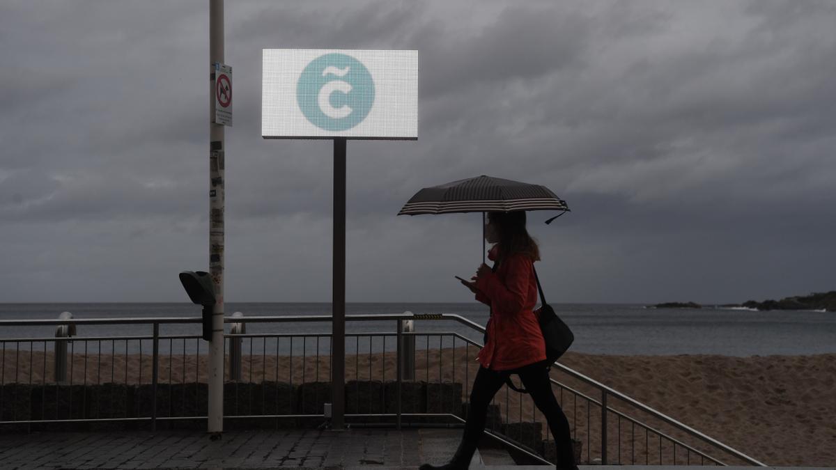 El paso de la borrasca 'Gaetán' por A Coruña.