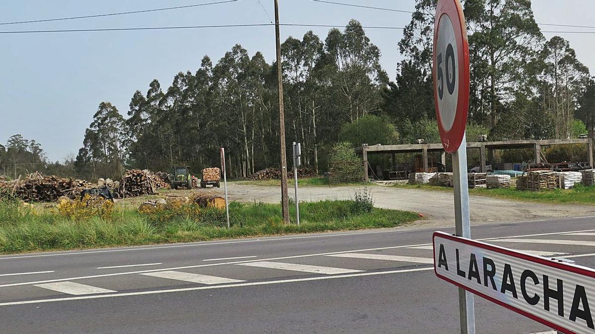 Zona en la que está previsto el nuevo ámbito comercial de A Laracha.     // LA OPINIÓN