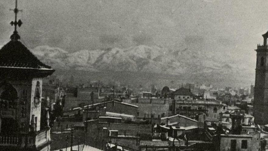 65 años de la última gran nevada en la ciudad de Castellón