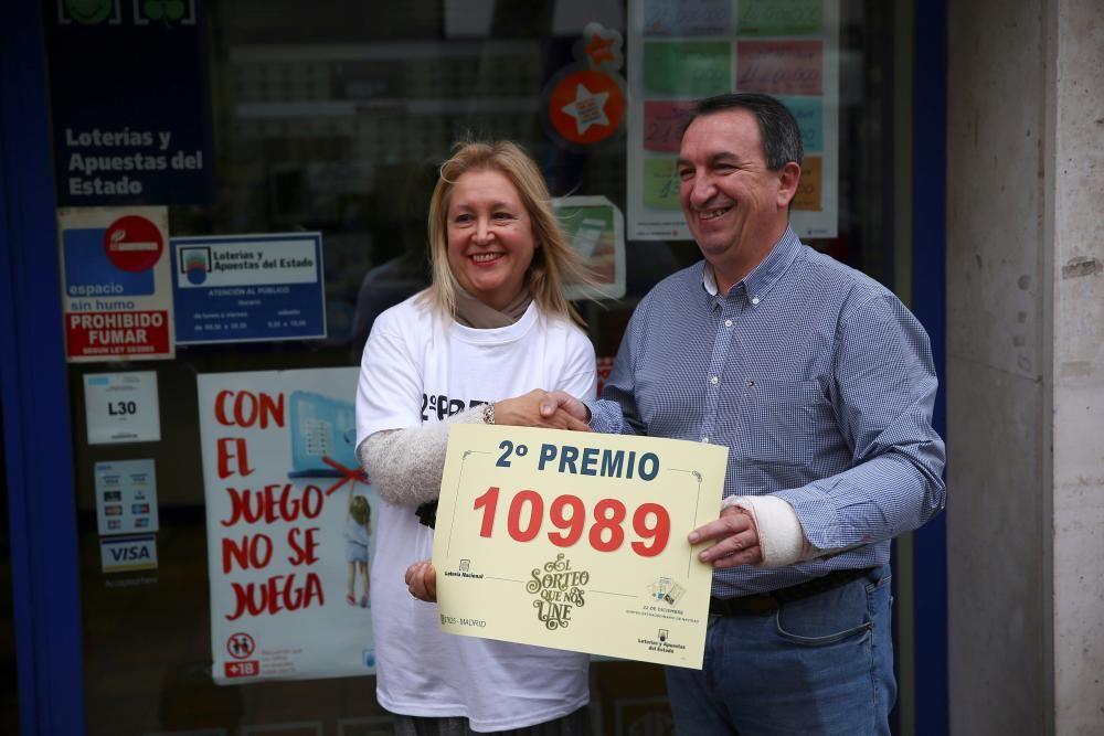 La administración número 31 de Madrid (Felix Boix, 4) ha repartido 102 series del segundo premio.