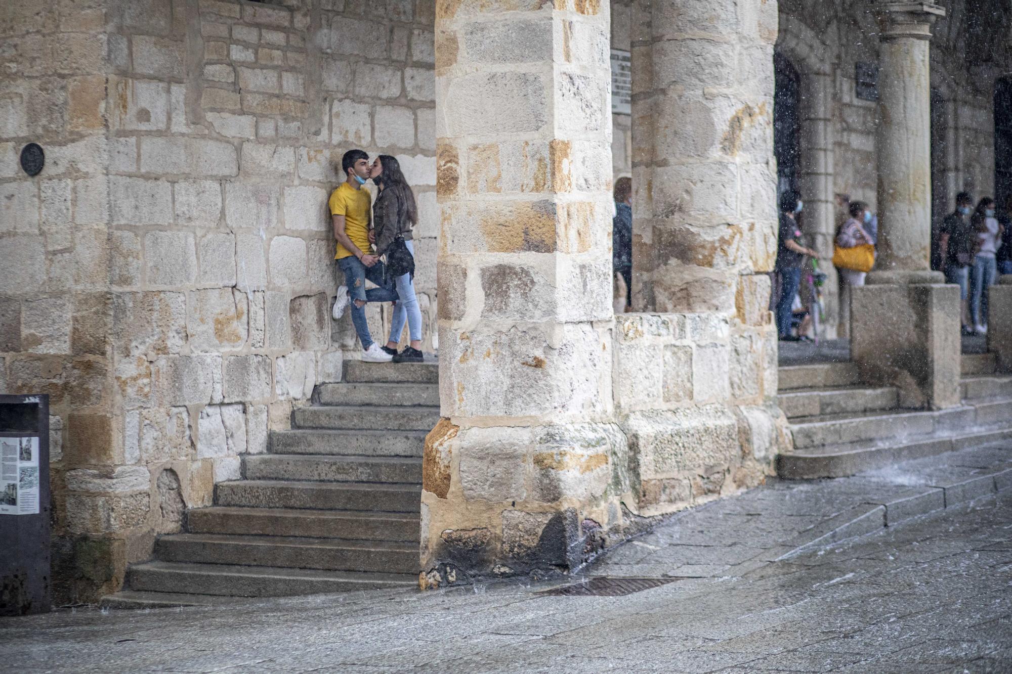 GALERÍA | Las imágenes que deja el chaparrón caído en Zamora