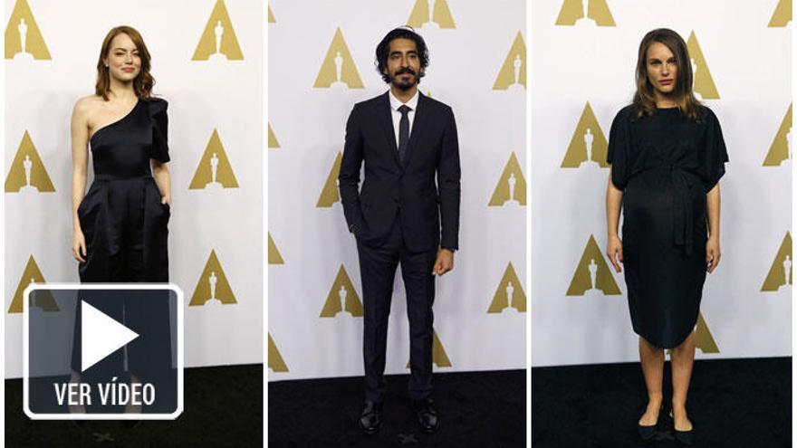 Los nominados a los Oscars 2017 celebran el tradicional almuerzo