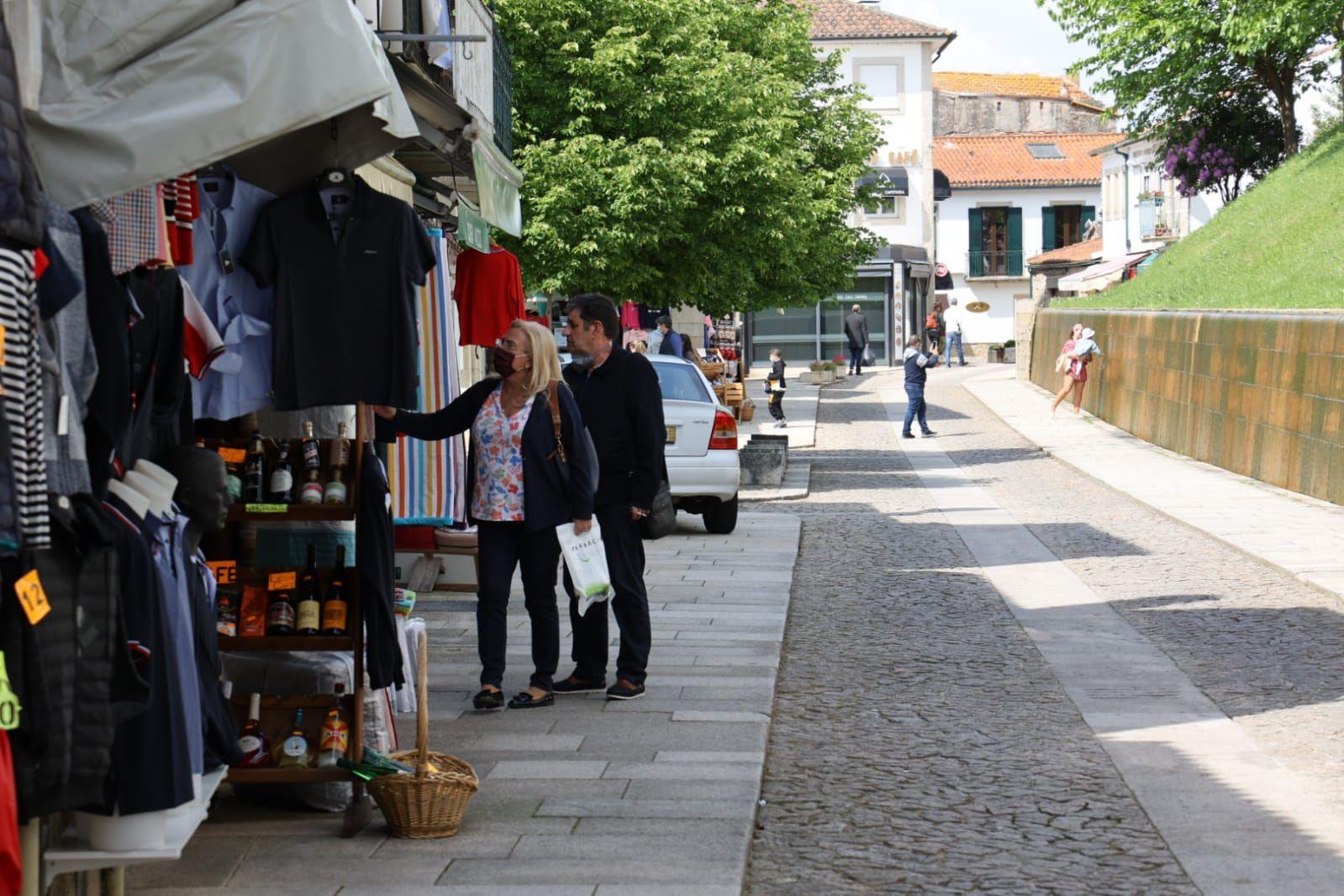Tranquilidad en Valença en la primera jornada tras la reapertura fronteriza