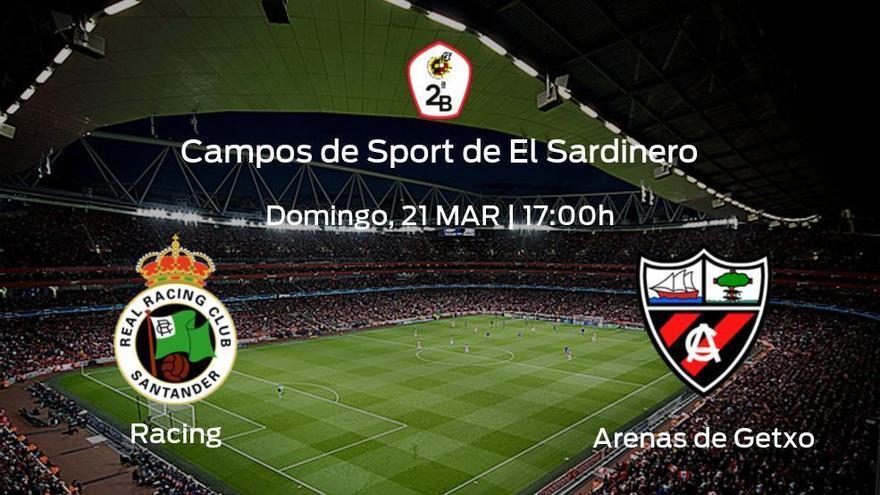 Previa del encuentro: el Racing de Santander recibe al Arenas de Getxo en la vigésimo primera jornada