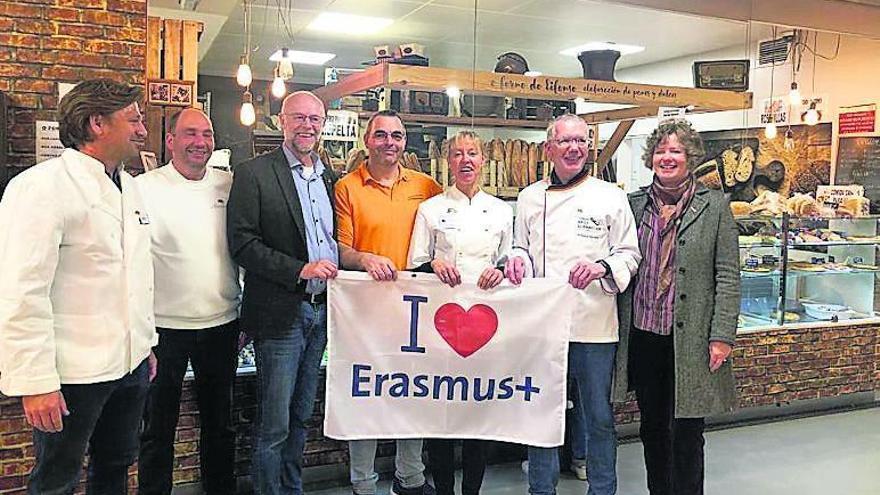 Panaderos alemanes de Erasmus en Vigo