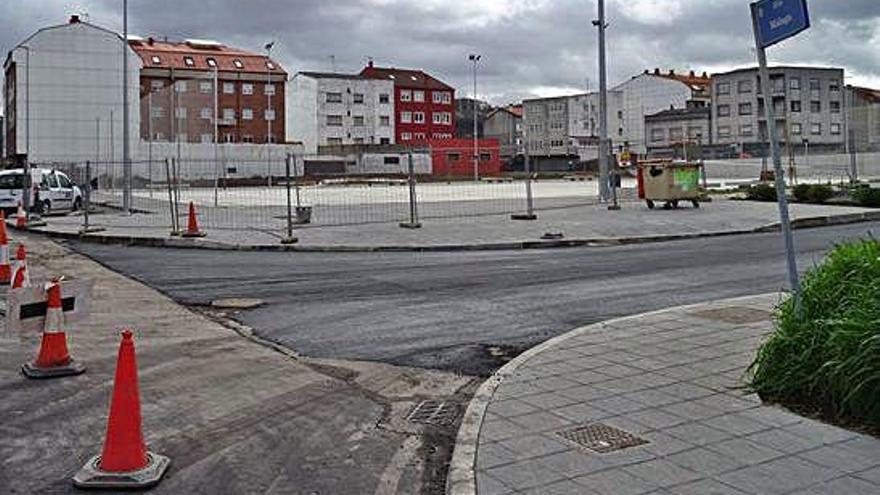 Reanudada la obra de la plaza de la avenida del Butano, parada desde el otoño pasado