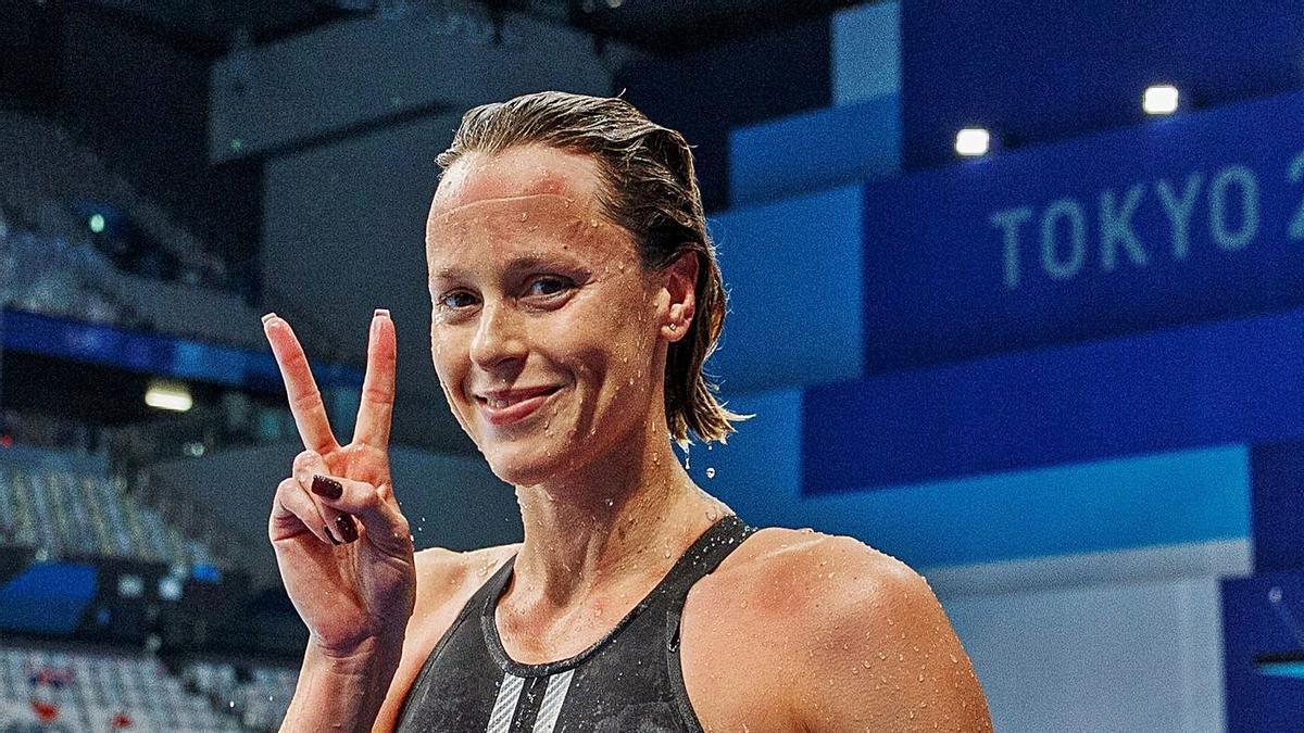 Federica Pellegrini saluda después de nadar su última final de 200 libres. |  // PATRICK B. KRAEMMER