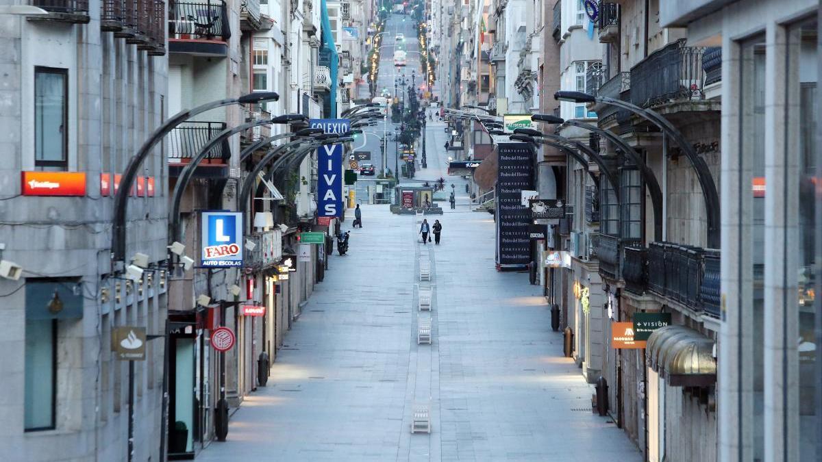 La céntrica calle Príncipe, en Vigo / Marta G. Brea