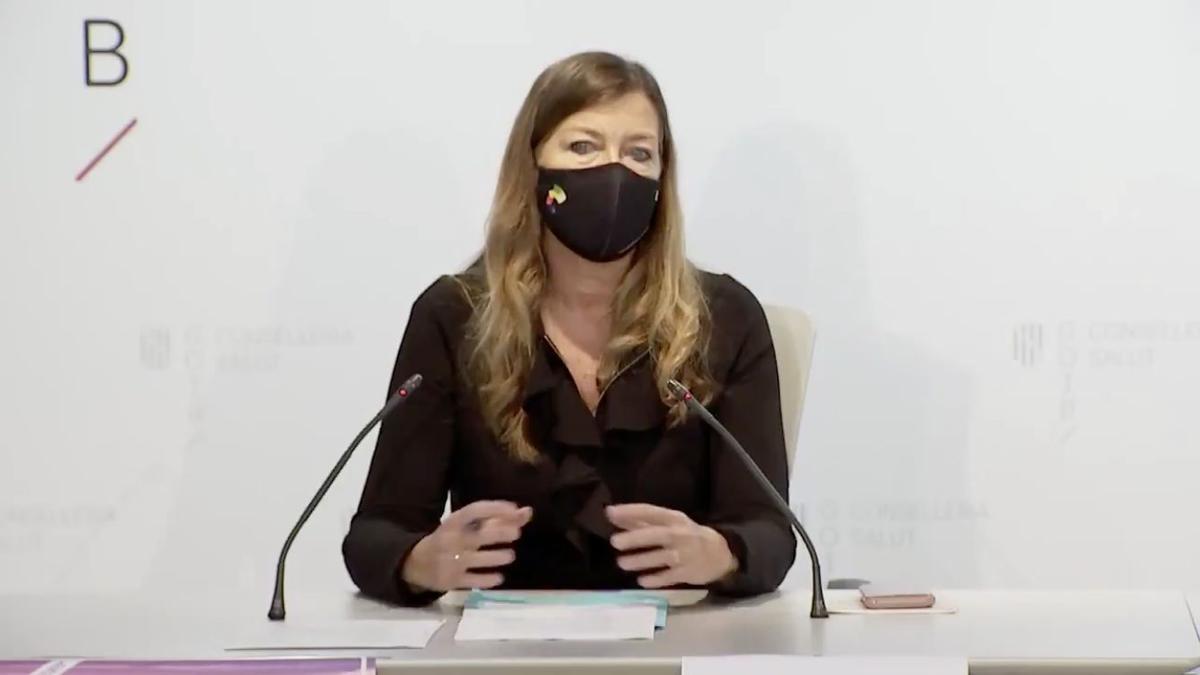 La consellera de Salud, Patricia Gómez, en rueda de prensa.