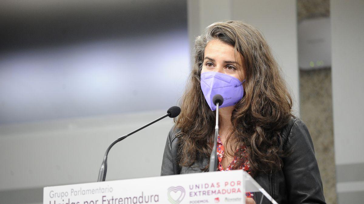 La portavoz de Unidas Podemos en Extremadura, Irene de Miguel.