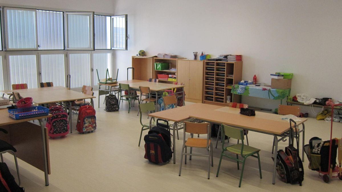 A classroom of a nursery and primary school.