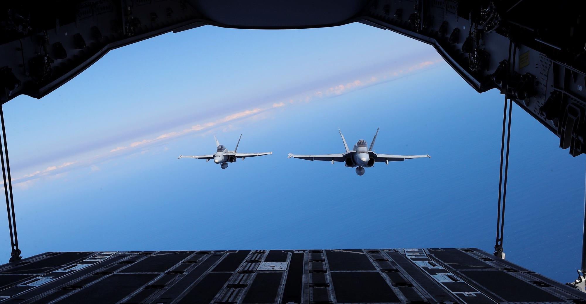 El cielo de Canarias prueba los últimos avances de los cazas de España y Francia