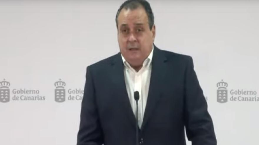 Rueda de prensa del consejero de Sanidad del Gobierno de Canarias, Blas Trujillo para actualizar los niveles de alerta (21/02/2021)