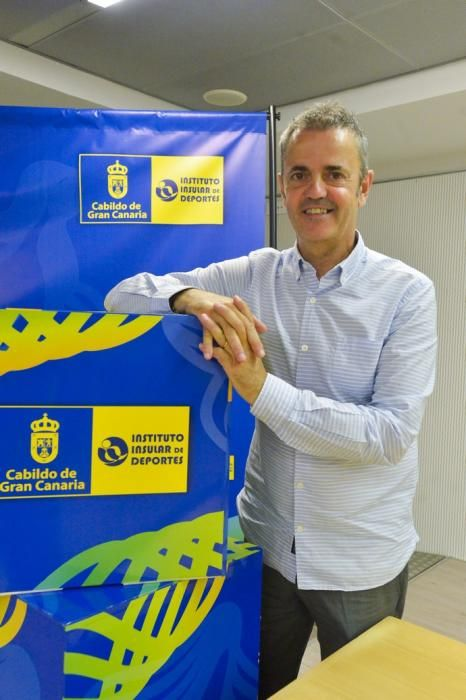 09-07-2020 LAS PALMAS DE GRAN CANARIA. Presentación oficial de Willy Villar y Porfi Fisac, nuevos director deportivo y entrenador del Herbalife Gran Canaria. Fotógrafo: ANDRES CRUZ    09/07/2020   Fotógrafo: Andrés Cruz