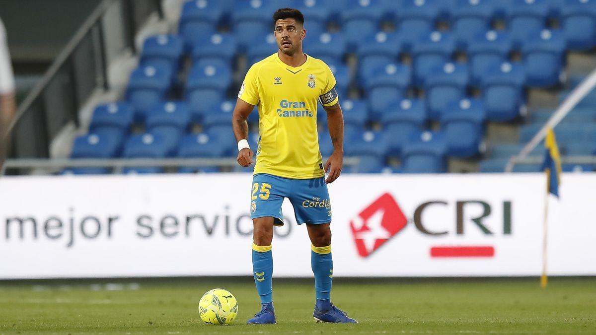 A moment of the meeting between the UD de Las Palmas against Albacete