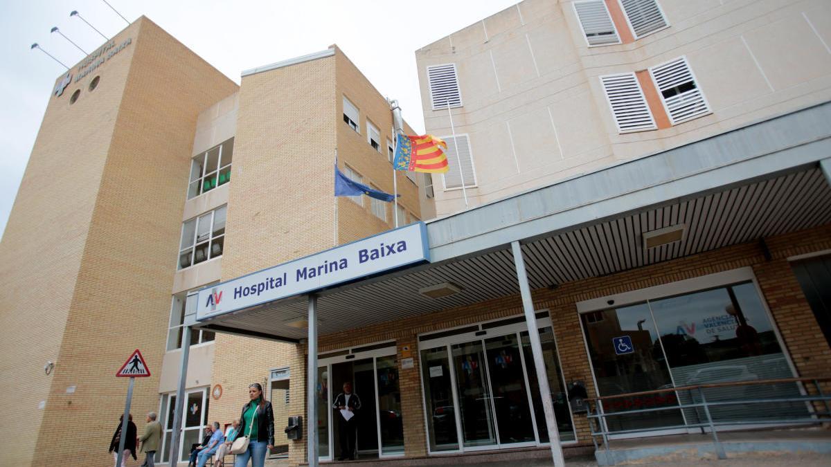 Hospital de la Vila donde falleció el motorista.