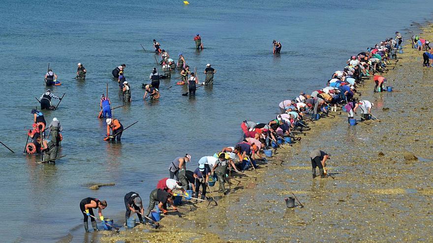 La difícil convivencia entre marisqueo y turismo