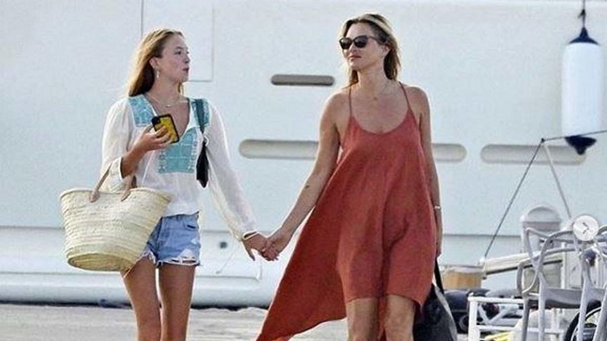 Kate Moss y su hija.