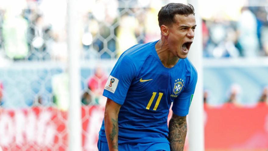 Coutinho rescata Brasil en el temps de descompte