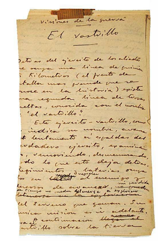 El Gobierno declara «inexportable» el archivo de Blasco que se subasta hoy