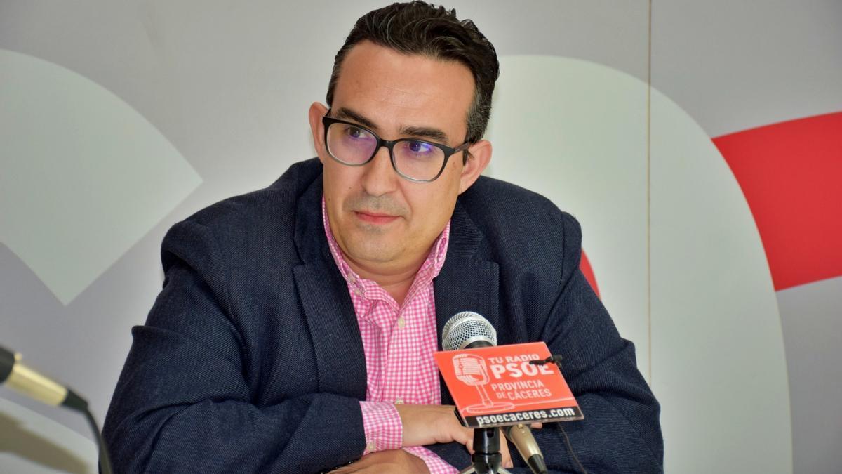 Antonio Jiménez, portavoz del PSOE en Malpartida de Cáceres.