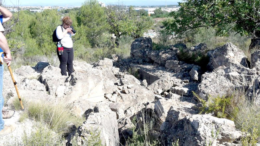 Trincheras del parque natural del Túria.