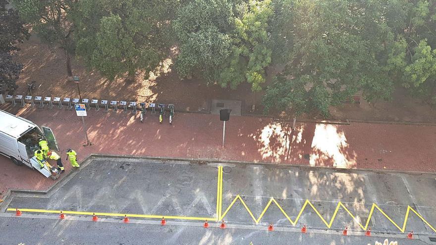 Vista Alegre vol aparcaments de zona verda al parc