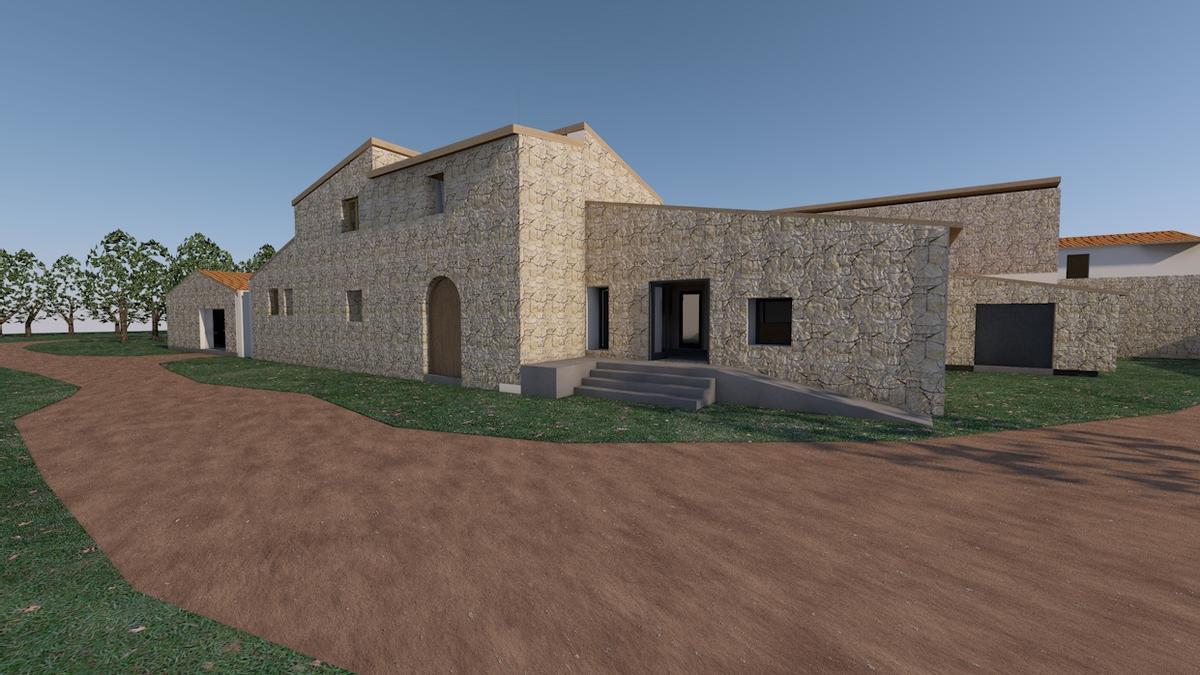 Recreación del nuevo Museu de Son Fornés.