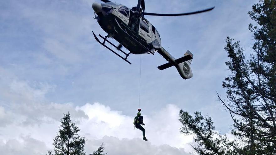 La Guardia Civil rescata a una senderista en Teruel