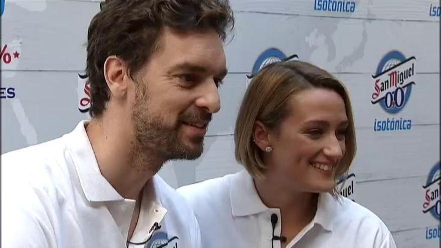 Pau Gasol y Mireia Belmonte intercambian elogios