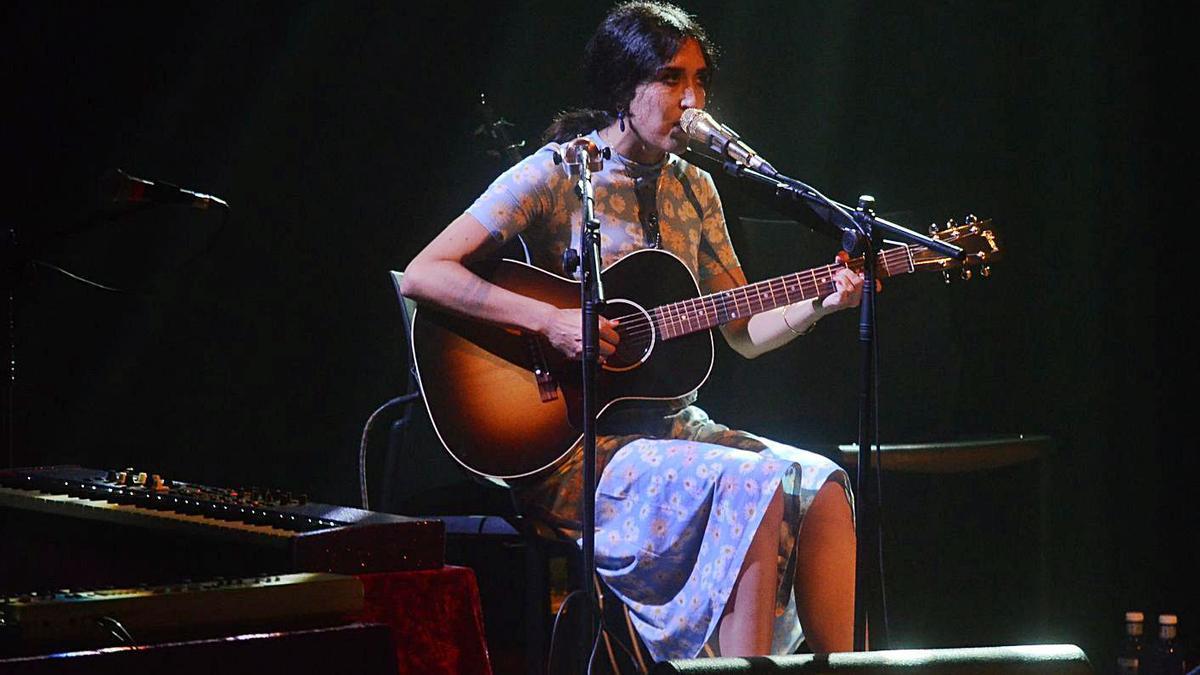 Un momento de la actuación de la cantante malagueña.