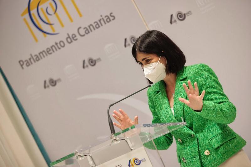 Visita de Carolina Darias al Parlamento de Canarias