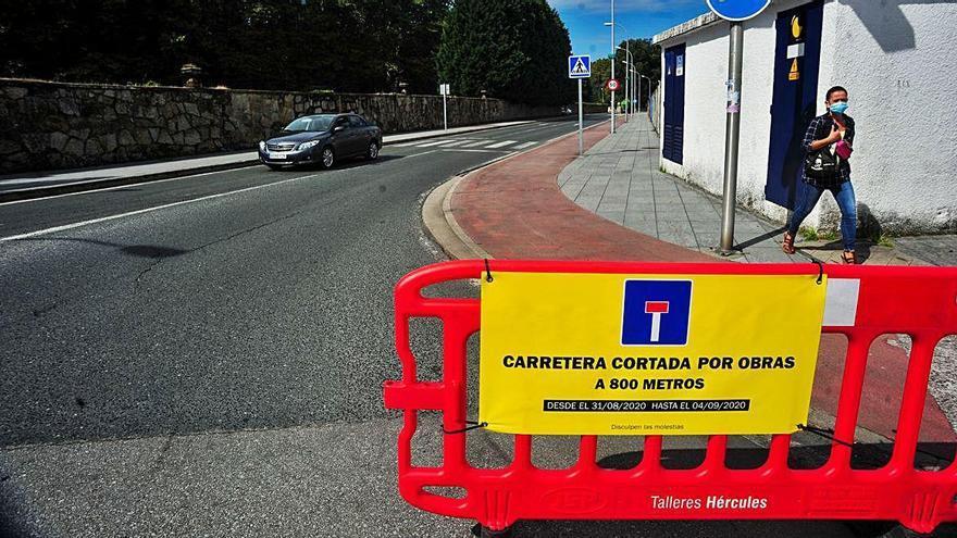 Aviso de corte de carretera durante la semana por las obras del paseo