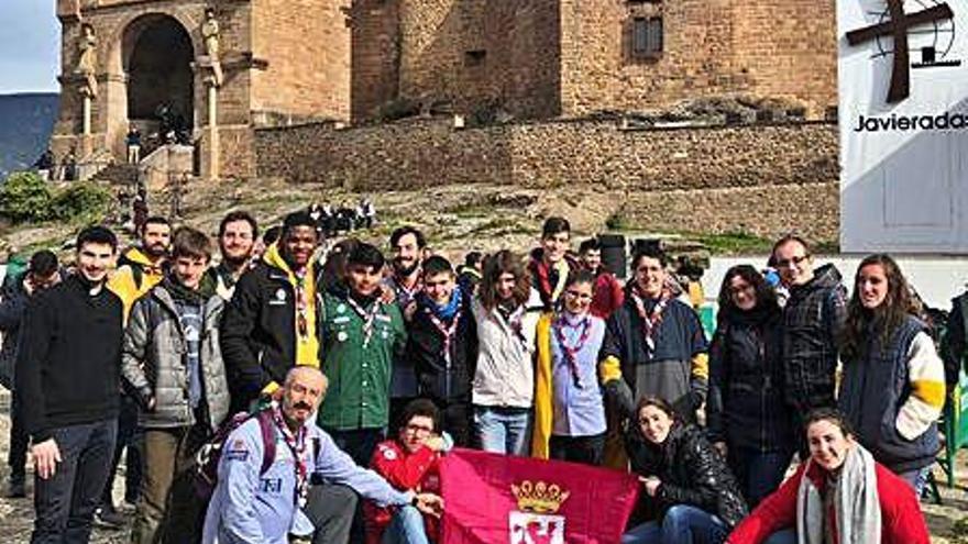 """Jóvenes scouts de Toro y Zamora participan en la participativa """"Javierada"""""""