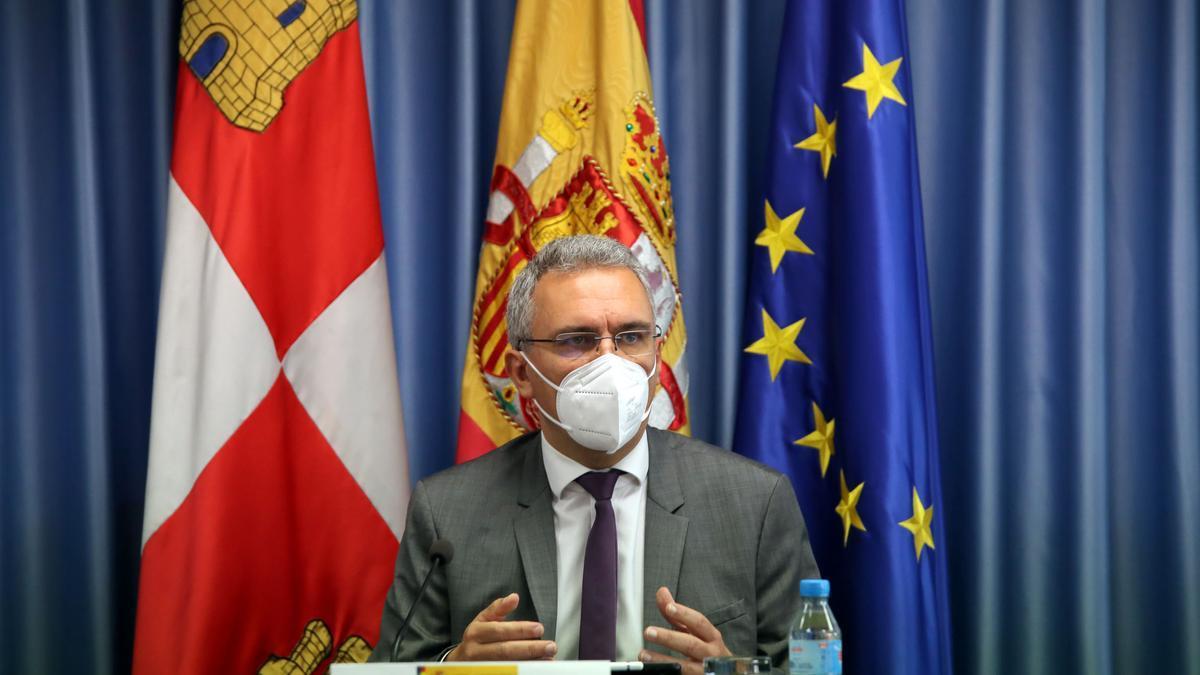 Javier Izquierdo durante su comparecencia.