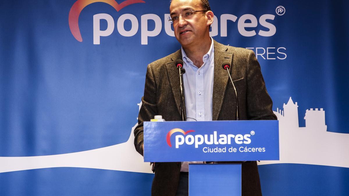 Mateos, esta semana, en el acto de su proclamación como presidente local del PP.