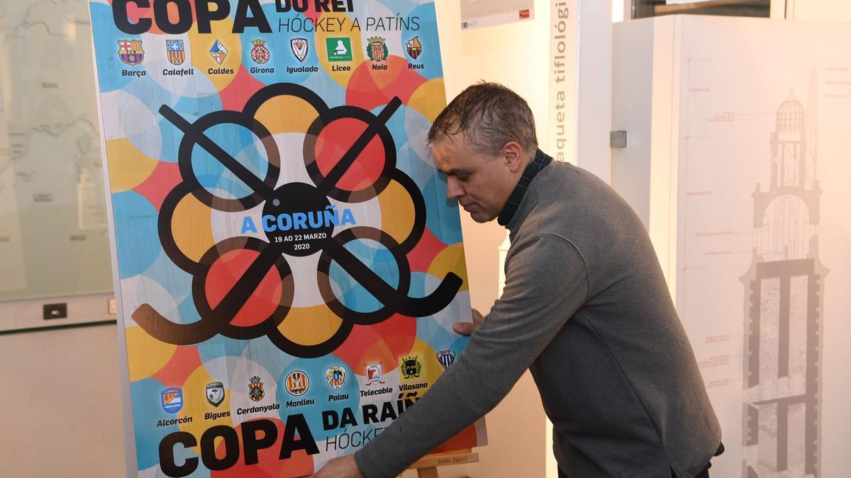 El coruñés Antón Lezcano diseñó el cartel de la Copa del Rey y de la Reina de Hockey 2020, finalmente suspendida por la pandemia.