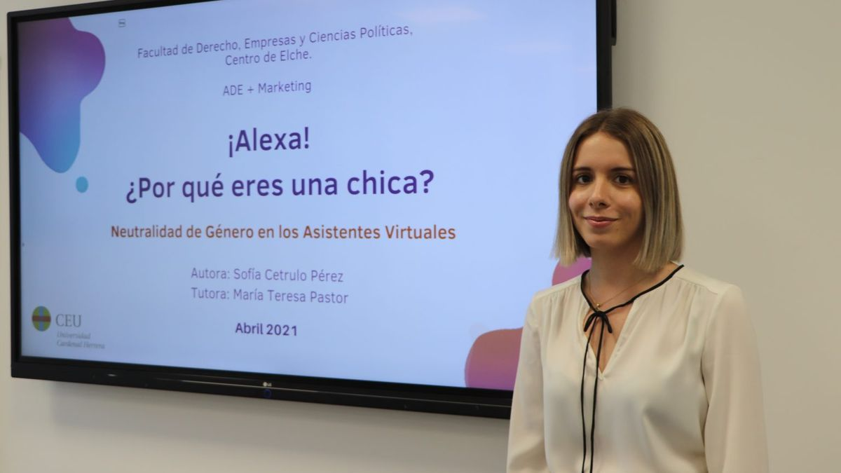 Sofia Cetrulo has carried out research on gender neutrality in virtual assistants.