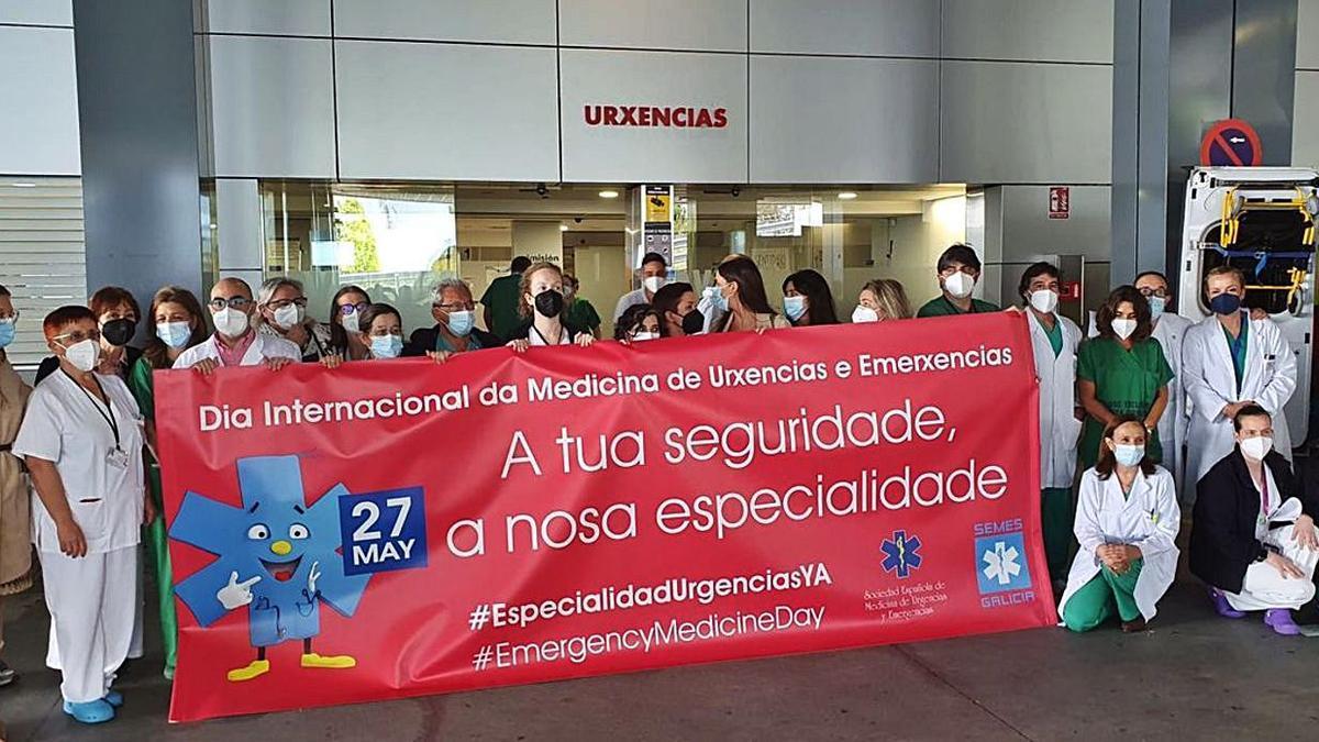 Médicos de A Coruña reclaman la especialidad de Urgencias
