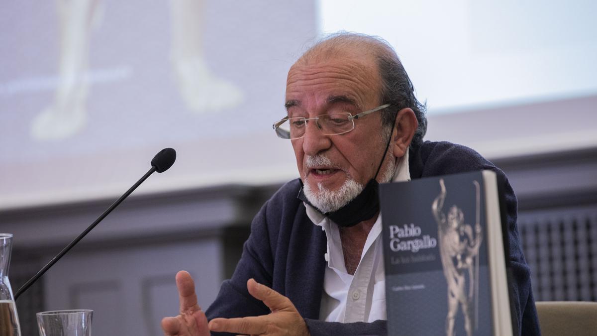 Carlos Mas Arrondo, durante la presentación del libro.